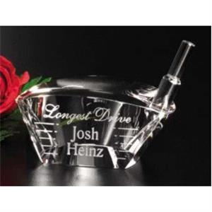 "Driver Sports Gallery - 2 1/2"" X 2 1/2"" X 1 1/4"" - Driver Shape Award Made Of Optical Crystal"