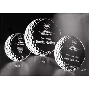 "Burnhaven Sports Gallery - 6"" X 1/4"" - Starfire Crystal Golf Award"