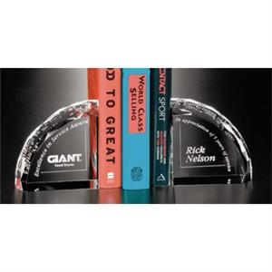 Distinctive Gift Gallery - Optical Crystal Pair Of Bookends Award