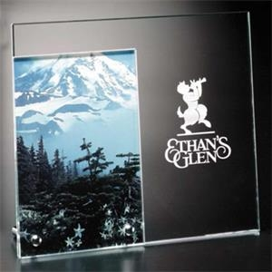 "Santa Fe Distinctive Gift Gallery - Starfire Crystal Picture Frame, Holds A 4"" X 6"" Photo"