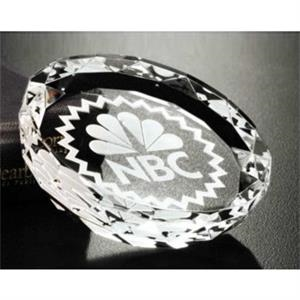 "Distinctive Gift Gallery - Optical Crystal Faceted Gem Paperweight, 3 1/4"" X 3/4"""
