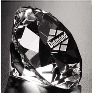 Distinctive Gift Gallery - Optical Crystal Diamond Paperweight