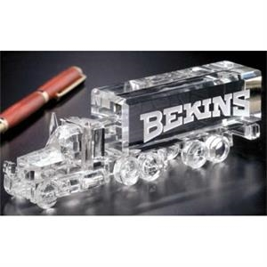 Distinctive Gift Gallery Long Haul Truck - Truck Shape Award Made Of Optical Crystal