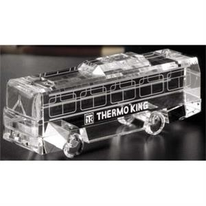 Distinctive Gift Gallery Coach Bus - Coach Bus Shape Award Made Of Optical Crystal