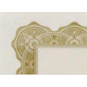 Certificate Gallery - Optima Gold - Certificate Made Of Paper 28 Lb Bond