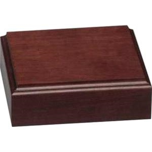 "Walnut Royal Base, 6"" X 1 3/4"" X 6"""