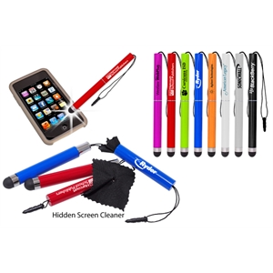 7 Working Days - Stylus With Polyester Microfiber Cloth Inside For Cleaning Screens. Easy Storage