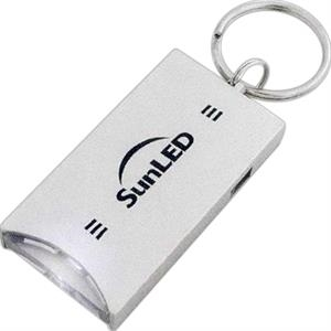 1 Working Day - Silver Push Button Led Light With Keyring