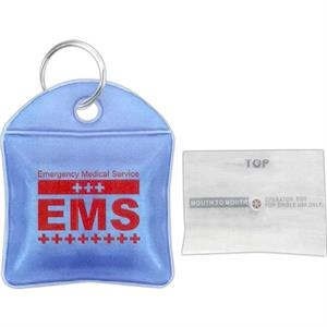 7 Working Days - Single Use Cpr Face Shield In Storage Pouch With Keyring. One Way Valve. One Size