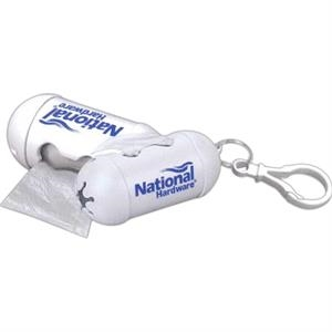 Numpty - 7 Working Days - White, Plastic Bone-shaped Dispenser Conveniently Stores Plastic Bags