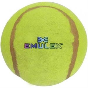 Numpty - 7 Working Days - Yellow Ball For Dog Exercise With Paw Print On One Side. Full Color Logo Included