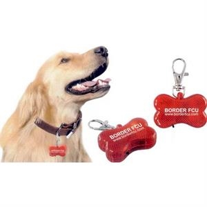 Numpty - 7 Working Days - Flashing Light Dog Bone Clips To Collar. Switch To Turn Flashers On. Color: Red