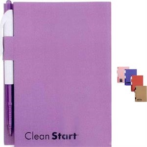 3 Working Days - Bound Paper Notebook In 5 Colors. Free Pen Included