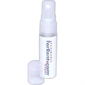 40 Working Days - Antibacterial Hand Sanitizer Pocket Spray With Snap-on Cap. Color: Clear