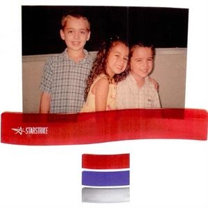 7 Working Days - Slip Your Photo Or Papers Into This Plastic Wavy Stand. Available In 3 Colors