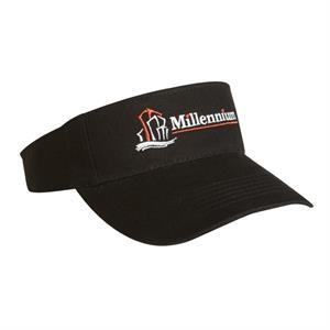 2900 Series - Black - Light Weight Brushed Cotton Twill, 3-panel Visor, 6 Rows Of Visor Stitches