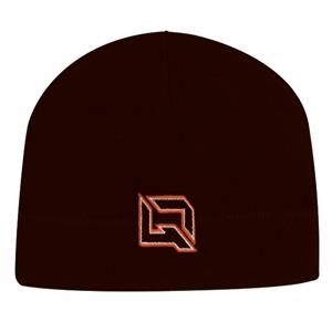 4955 Series - Black - 100% Polyester Fleece Beanie