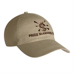 9100 Series - Stone - Unstructured, Low Profile, 100% Cotton, 6-panel Fashion Cap