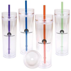 16oz (470 Ml) Clear Tumbler Made Of Bpa-free Double Wall As Plastic