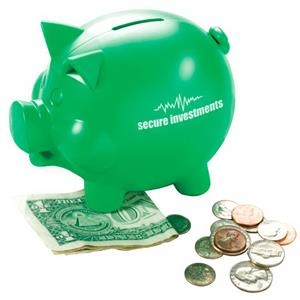 Friendly Bank'r - Piggy Bank Made From 100% Pre-consumer Regrind Plastic