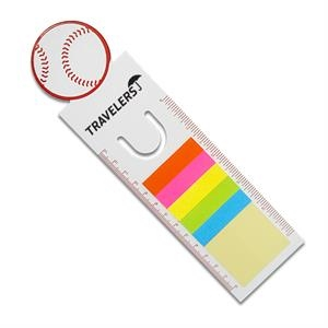 Baseball - Sport-themed Bookmarks Include Sticky Notes And Double-sided Ruler