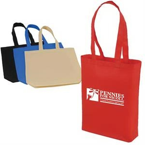 A Large Solid Color Non-woven Polypropylene Tote Bag With Handles And Gusset