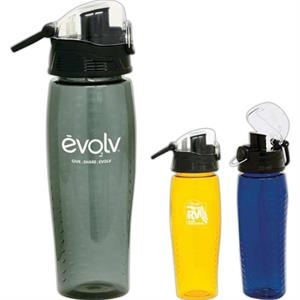 Rain - Bpa Free 24 Oz. Water Bottle With Pop-up Lid, Large Sipper Piece, And Power Grip