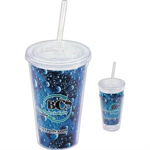 Impress - This 16 Oz Tumbler With Full-color Paper Insert Unleashes Your Logo Full Force