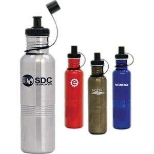 Cyclone - 25 Oz. Stainless Steel Sports Bottle