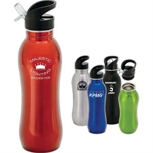 Radix - Curvy Stainless Steel Sipper Bottle, 24 Oz