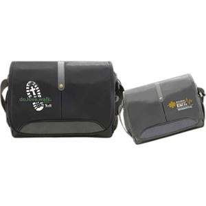 "Goldracer - 420 Denier Nylon 15.4"" Computer Bag. Fully Padded Zipper Compartment And Front Flap"
