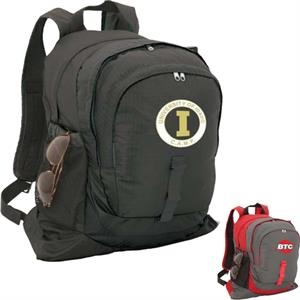 Gosport - Nylon Backpack With Adjustable Sternum Strap, 2 Side Mesh Pockets, Daisy Chain Loop