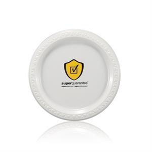 "7\"" Plastic Plate - White"
