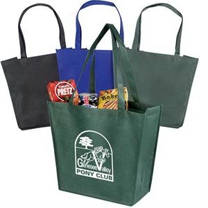 "Recyclable And Reusable Non-woven Tote With Dual Reinforced 24"" Handles"
