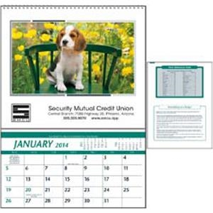 High-quality 2015 Farm Calendar That Features A Storage Pocket Each Month