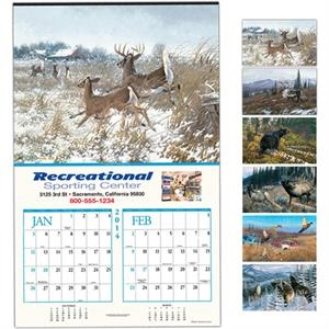 "Wildlife Collection - Six-sheet Executive Calendar, 14"" X 22"""