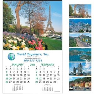 "World Traveler (tm) - Six-sheet Executive 14"" X 22"" Calendar"