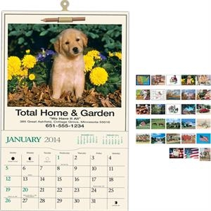 Home & Garden - Pocket Calendar With Black Ad