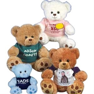 "Paw Bear (tm) Patches Sof-fur (tm) - Baby Blue - Stuffed 7"" Toy With Paw Prints And Embroidered Eyes"