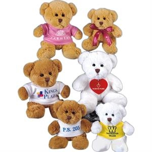 "Jamie Bear (tm) - White - 8"" Stuffed Toy Bear, Get To Know What ""soft"" Means!"