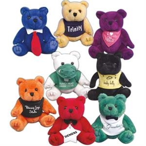 "Sof-fur (tm) Gb Brites (tm) - Purple - Stuffed 6"" Bear"