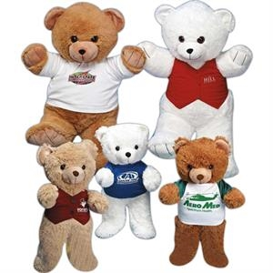 "Cecil Bears (tm) - White - 24"" Big Stuffed Bear"