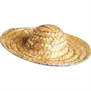 Straw Sombrero For Stuffed Animal. Blank