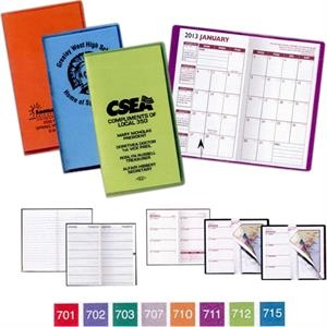 Translucent Vinyl Monthly Planner With 2 Color Insert