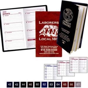 Executive Vinyl Monthly Planner With 1 Color Insert
