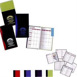 Geneva - Soft Cover 2-tone Vinyl Designer Series Weekly Planner, 1-color With Map