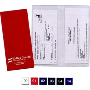 Policy And Document Holder With 2 Clear Full Pockets