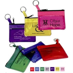 Zippered Pouch With Key Ring Strap To Keep Keys Secure