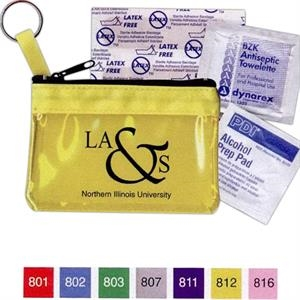 Key Ring Zippered First Aid Pouch