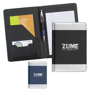 Zume - Pad Folder Made With Scuba Material In Blue With Silver Accents